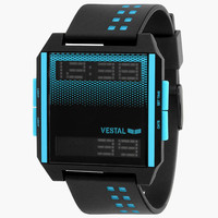 Vestal Digichord Watch Black Combo One Size For Men 26102114901