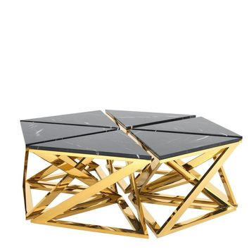 Marble Top Gold Coffee Table Set | Eichholtz Galaxy