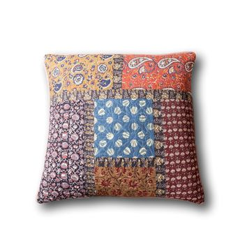 Tache Sunset Blooms Floral Quilted Pillow Cover Patchwork 1 Piece Euro Sham (JHW-825-26X26-EURO)