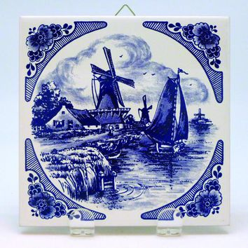 Dutch Scenic Plaques Country Windmill
