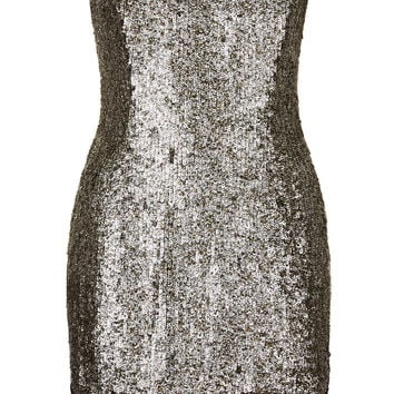Limited Edition Lace Hem Sequin Bardot Dress
