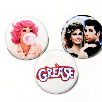 """Grease Pin Pack - 1 1/4"""" Button Pack, Sandy and Danny"""