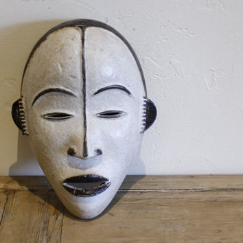 Antique Gabonese Mask, Wooden African Mask- African Art - Tribal Art