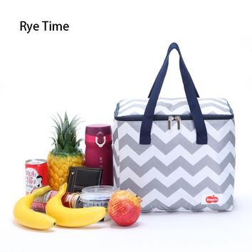 new branded 16 can thermal picnic cooler lunch bag insulated cool handbags ice pack thermo lunch box food milk wine fresh bags