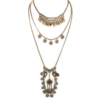 Gypsy Shine Gold Layered Necklace