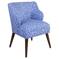Kira Chair, Blue/White Leopard, Accent & Occasional Chairs