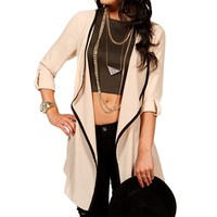 Taupe Open Jacket
