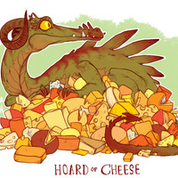 HOARD OF CHEESE PRINT