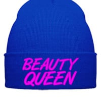 beauty queen Bucket Hat, - Beanie Cuffed Knit Cap