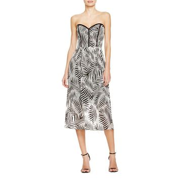 Parker Womens Printed Strapless Casual Dress