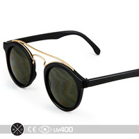 Tortoise Metal Bridge Bar Round Circle Sunglasses Glasses Vintage Classic S086