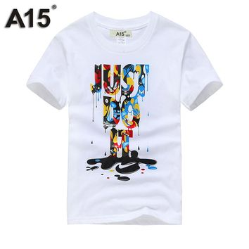 A15 T Shirt Boys Summer 2018 Brand Short Sleeve Clothes T-shirt Girl Kids Clothing Children Designer Cotton Top Tee Size 8 10 12