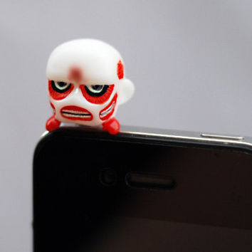 Attack on Titan earphone jack dust plug - Colossal Titan