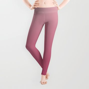 Soft Rose Ombre Leggings by Lindsay