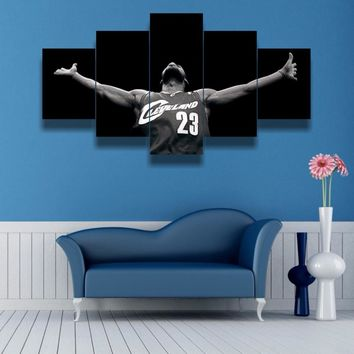 Lebron James 5 Piece Canvas
