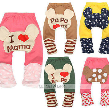 2015 New Cute Baby Trousers Toddler Boy Girls Cotton Leggings Leg Warmers Socks PP Pants Gift free shipping