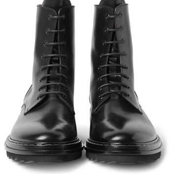 Givenchy - Leather Combat Boots