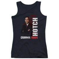 CRIMINAL MINDS/HOTCH - JUNIORS TANK TOP - BLACK -