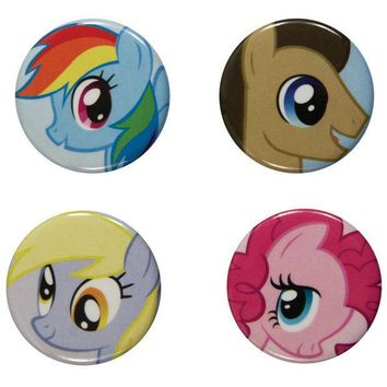 PEAPGQ9 My Little Pony - Characters 4-Piece Button Set