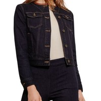 Lauren Ralph Lauren Leather Trim Denim Jacket | Bloomingdales's