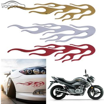 Waterproof 3D Fire Flame Car Sticker Motorcycle Fuel Gas Tank Decals Automobiles Engine Hood Reflective Stickers Auto Decoration