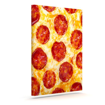 "KESS Original ""Pizza My Heart"" Pepperoni Cheese Canvas Art"