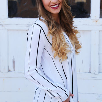 Day And Night Striped Blouse