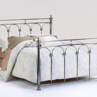 Athena Nickel and Crystal Headboard