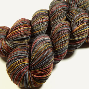 Hand Dyed Yarn - Sock Weight Superwash Merino Wool Yarn - Agate - Knitting Yarn, Sock Yarn, Wool Yarn, Earthtones
