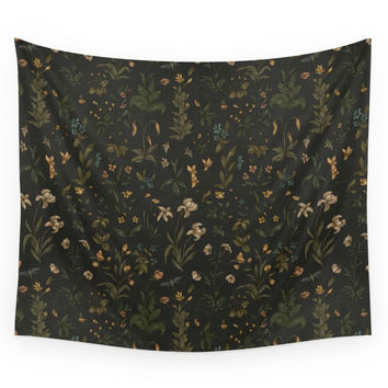 Society6 Old World Florals Wall Tapestry