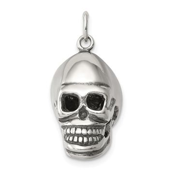 925 Sterling Silver Skull Shaped Pendant