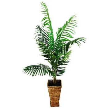 Areca Palm in a Tapered Basket Silk Plant