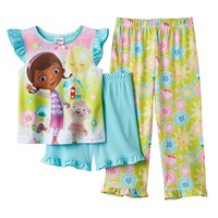 Disney's Doc McStuffins Sun & Flower Pajama Set - Toddler Girl, Size: