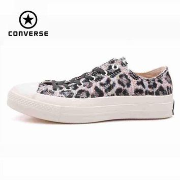 original converse all star men s leopard print sneakers canvas shoes for men low class
