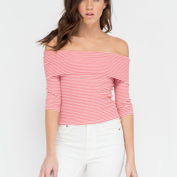 Casual Code Off-The-Shoulder Top