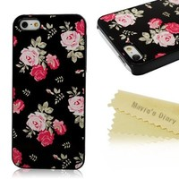 Iphone5 Case - Mavis's Diary Flower Design High Quality Aluminum Slim Case Cover for Iphone 5 5s with Soft Clean Cloth (Pattern-3)
