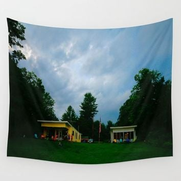 Adirondack Camp Wall Tapestry by Lindsey Jennings Photography