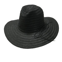 Draw Straws Hat In Black