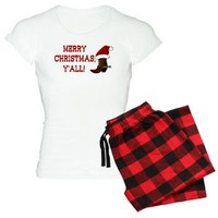 Merry Christmas Yall - Santa Boot Pajamas> Merry Christmas Y'all - Santa Boot> Designs By V Holiday-themed Gifts