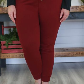 Homebody Joggers + Burgundy