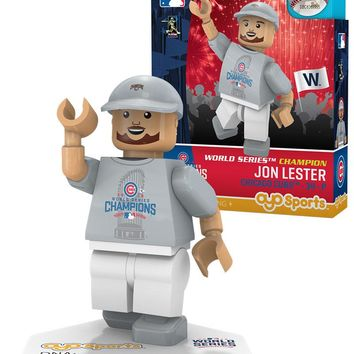 Chicago Cubs JON LESTER World Series T-Shirt Limited Edition OYO Minifigure