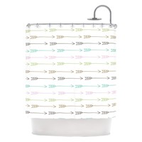 "Kess Inhouse Skye Zambrana ""William Tell"" Arrow Shower Curtain 