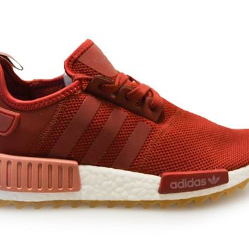 Adidas Originals NMD_R1 Trail W Unisex Running Trainers Sneakers (US 7.5, Maroon White S81047)