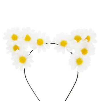 Daisy Cat Ears Headband
