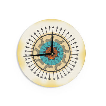 "Famenxt ""Colorful Peacock"" White GreenWall Clock"
