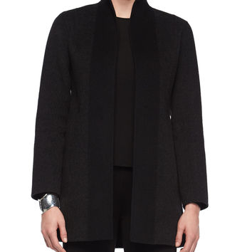 Double-Faced Brushed Wool Coat, Size: