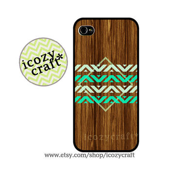 Geometric Wood iphone 5 case iphone 4 case  iphone by icozycraft