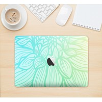 "The Faded Blue & Green Subtle Floral Skin Kit for the 12"" Apple MacBook"
