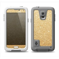 The Gold Glitter Ultra Metallic Samsung Galaxy S5 LifeProof Fre Case Skin Set