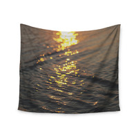 """Libertad Leal """"Still Waters"""" Sunset Wall Tapestry"""